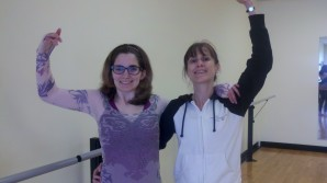 Photo of Laura and Gail dancing