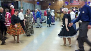 Mom Square Dancing
