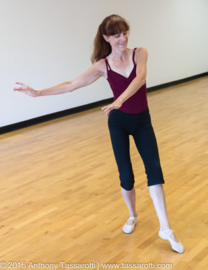 Gail Dancing before the studio opened